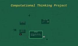 Computational Thinking Project