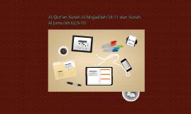 Copy of Al-Qur'an Surah Al-Mujadilah 58:11 dan Surah Al Jumu'ah 62:9
