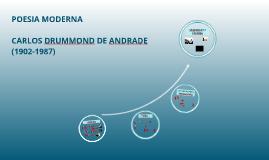 POESIA MODERNA: CARLOS DRUMMOND DE ANDRADE (1902-1987)