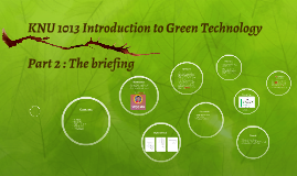 KNU 1013 Introduction to Green Technology