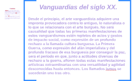 Vanguardias del siglo XX.