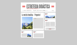 ESTRETEGIA DIDÁCTICA