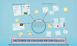 FACTORES DE CALIDAD EN LOS GRANOS