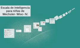 Wisc- IV.        NIÑOS