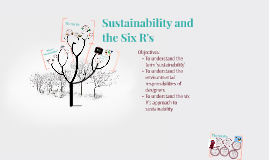 Sustainability and the Six R's