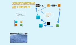 Copy of SUPERHYDROPHOBIC CONCRETE