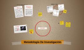 Metodología del investigación