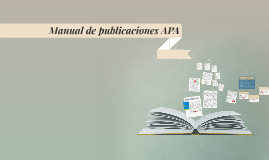 Manual de publicaciones APA
