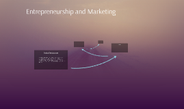 Entrepreneurship and Marketing