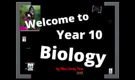 Year 10 Biology Topic 1: Living processes
