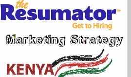 International Marketing Strategy - The Resumator