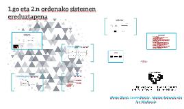 1 eta 2.n ordenako sistemen ereduztapena