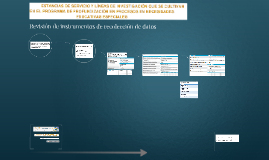 Revisión de instrumentos de recolección de datos