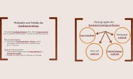 Methoden & Inhalte - Ausdauertraining