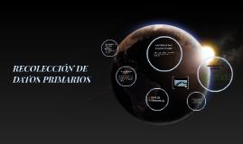 RECOLECCION DE DATOS PRIMARIOS