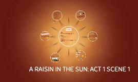A RAISIN IN THE SUN: SCENE 1