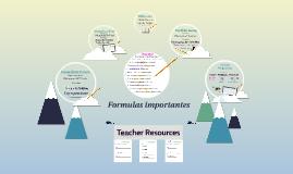 E1 Formulas importantes