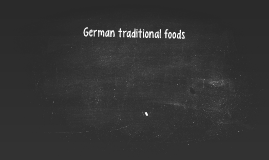 German traditional foods
