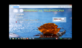 FONENDO 2.0. TELEMEDICINA