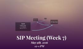 SIP Meeting (Week 7)