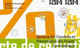 Copy of Epreuve E6: Conduite et Présentation des Projets Commerciaux