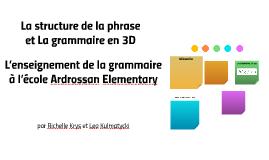 La structure de la phrase et La grammaire en 3D