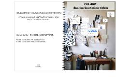 PARADOX, divatmárka az online térben