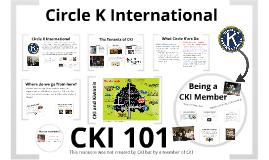 Copy of CKI 101