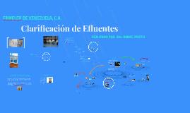 Clarificación de Efluentes