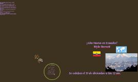 New Years in Ecuador!