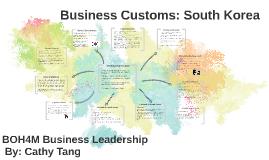Business Customs: Korea