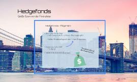 Hedgefonds-Große Gewinner der Finanzkrise