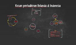 kesan pentadbiran Belanda di Indonesia