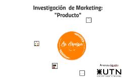 "Inv. de Marketing: ""Producto"""