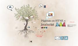 Páginas en HTLM y JavaScript