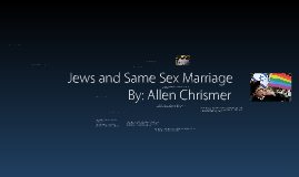 Jews and Same Sex Marriage