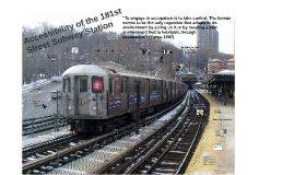 Community Deficit- 181st St. Subway