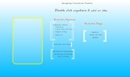 Graphic for Evaluation Design