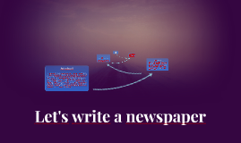 Let's write a newspaper