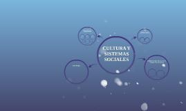 CULTURA Y SISTEMAS SOCIALES