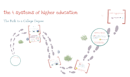 4 systems of higher ed