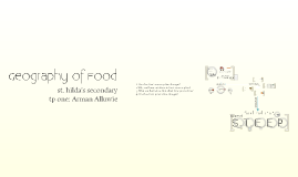 Geography of Food
