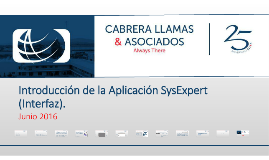 Introduccion de la Aplicacion SysExpert (Interfaz)
