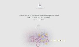 Evaluación de la Representación Fonológica