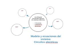 Modelo y ecuaciones del sistema: