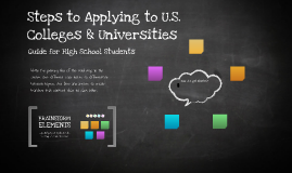 Steps to Applying to U.S. Colleges & Universities