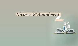 Divorce & Annulment