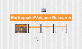Earthquake/Volcano Research