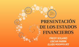 Copy of PRESENTACION DE LOS ESTADOS FINANCIEROS