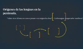 Orígenes de las lenguas en la península.
